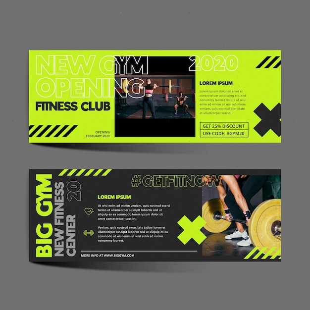 Training center banner template Free Vector