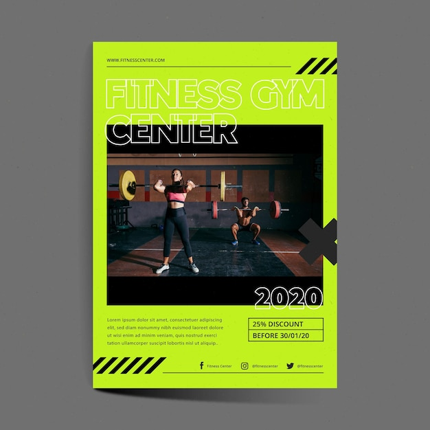 Training center flyer template Free Vector