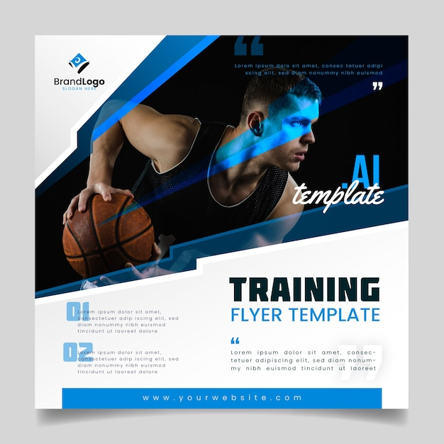 Training flyer template Free Vector