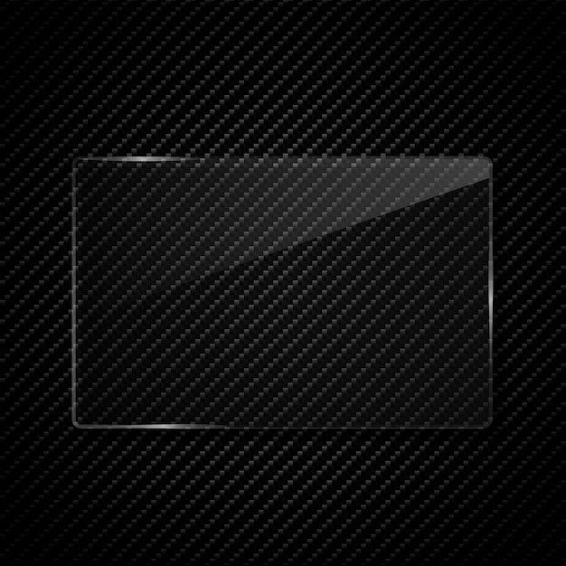 Transparency glass frame Premium Vector
