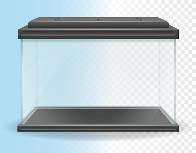 Transparent aquarium vector illustration Premium Vector