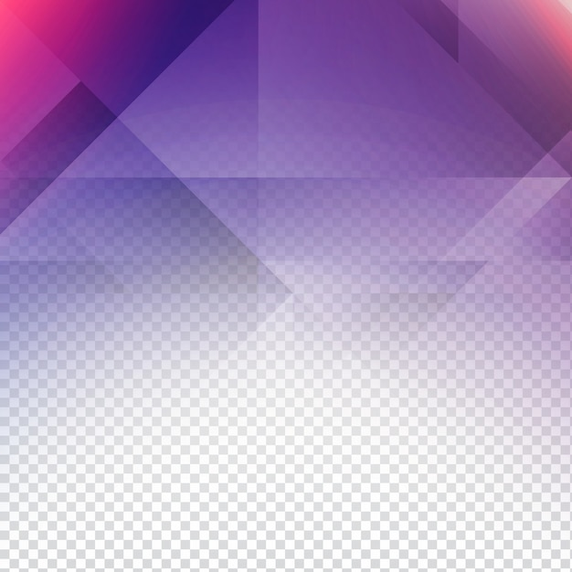 Purple Polygonal Abstract Background: Transparent Background With Purple Polygonal Shapes Vector