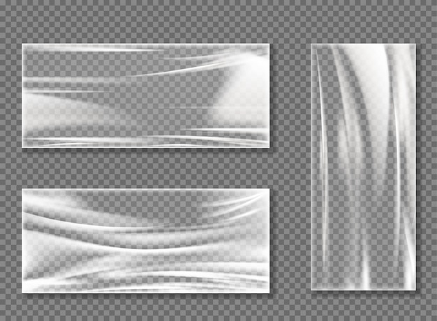 Transparent cellophane stretch film for wrapping Free Vector