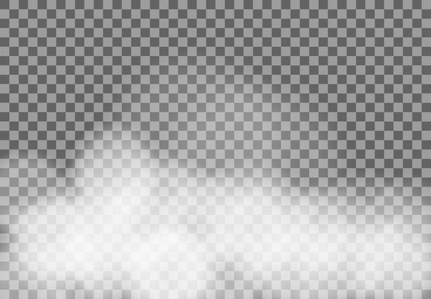 Transparent clouds Premium Vector