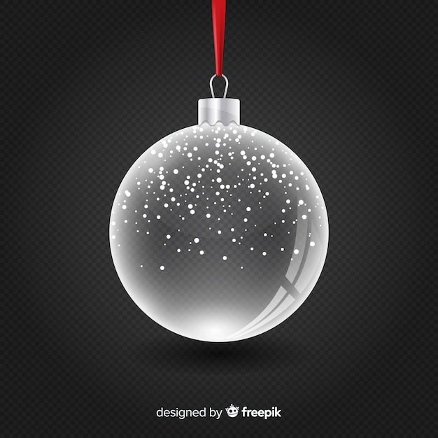 Transparent crystal christmass ball Free Vector