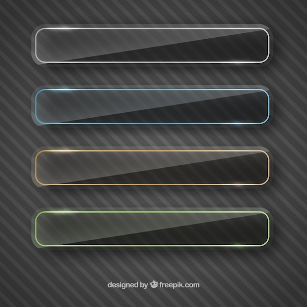 Transparent dark banners Free Vector