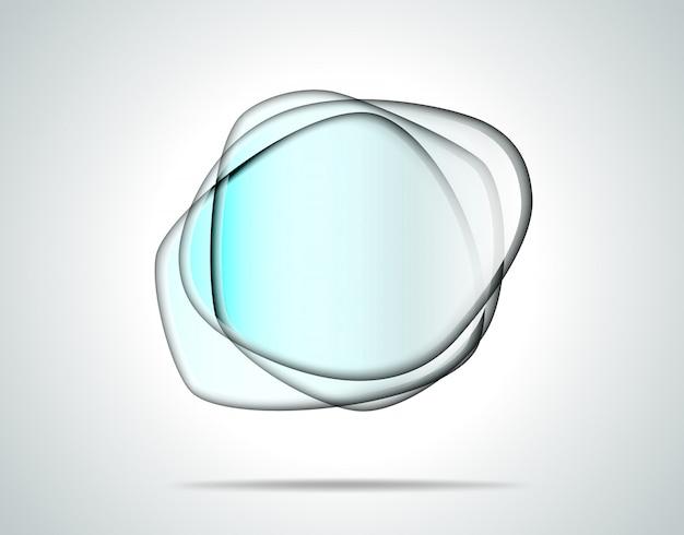 Прозрачные стеклянные пластины Premium векторы