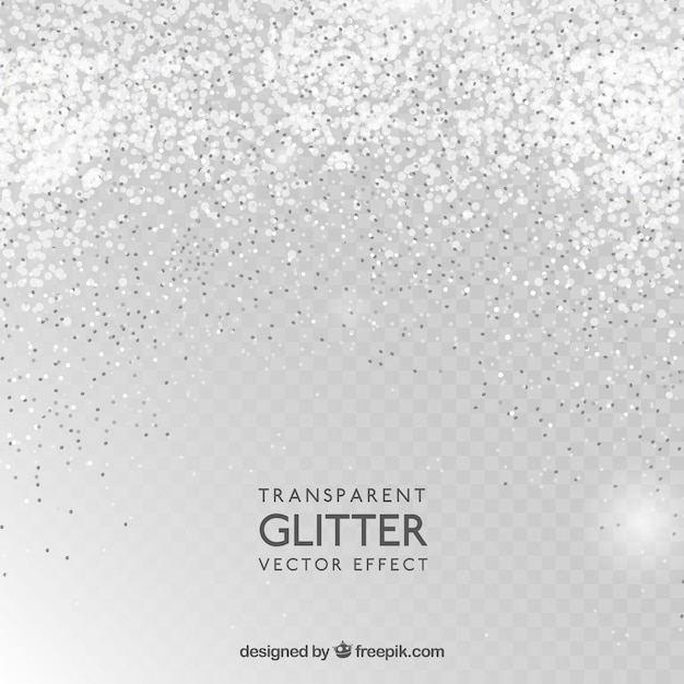 Transparent glitter background Free Vector