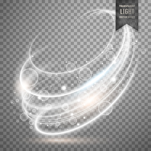 Transparent light effect background Free Vector
