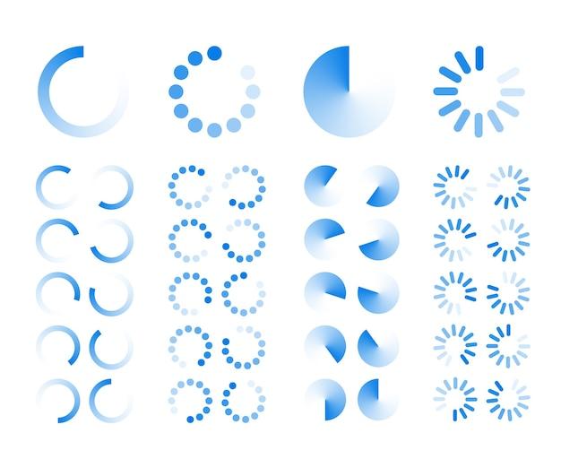 Прозрачные значки индикаторов прогресса Бесплатные векторы