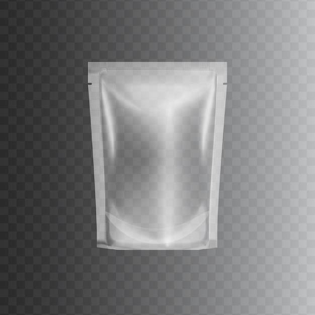 투명 밀봉 비닐 봉투 프리미엄 벡터