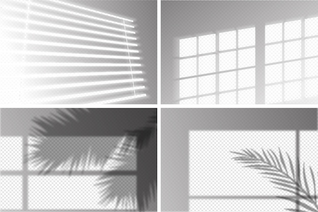 Transparent shadows design with ovelay effect Free Vector