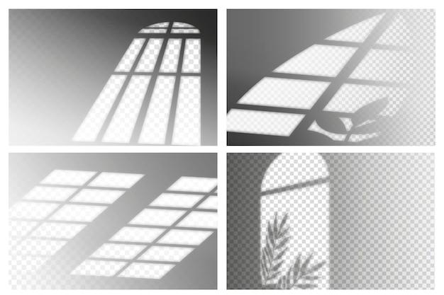 Transparent shadows ovelay effect theme Free Vector