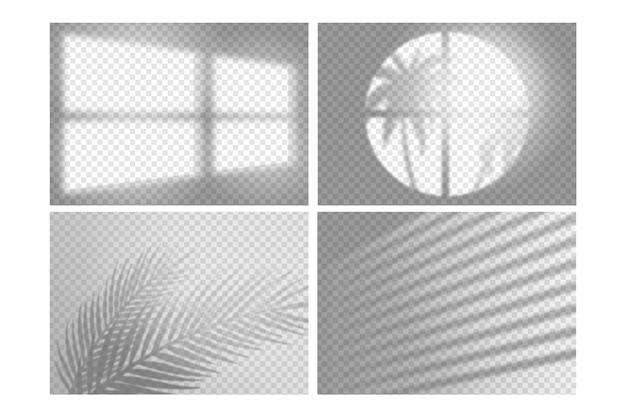 Transparent shadows overlay effect design Premium Vector