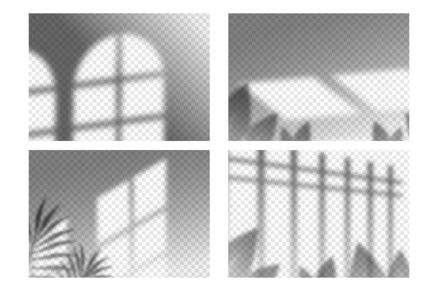 透明な影のオーバーレイ効果パック 無料ベクター