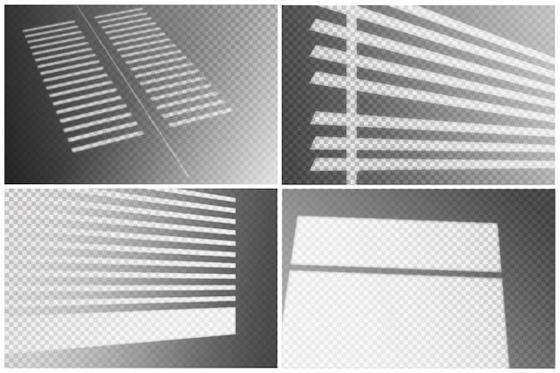 Transparent shadows overlay effect Free Vector