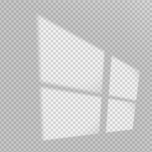透明な影のオーバーレイ効果 無料ベクター