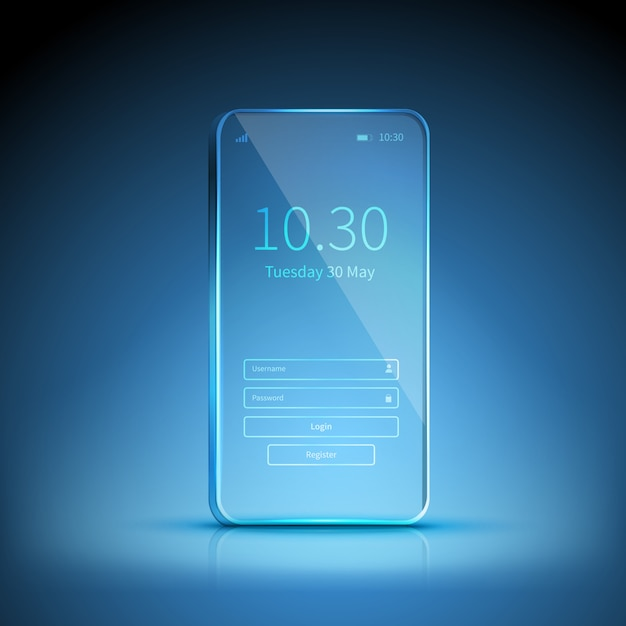 Transparent smartphone image Vector | Free Download