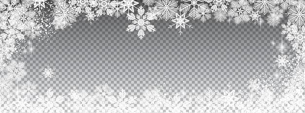 Transparent snowy Premium Vector