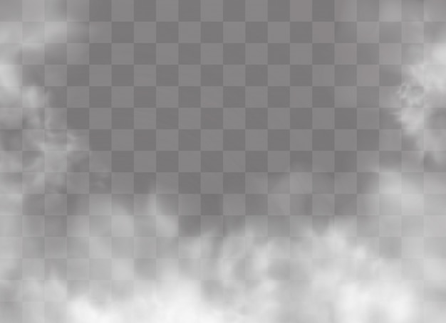 Transparent special effect stands out with fog or smoke. Premium Vector