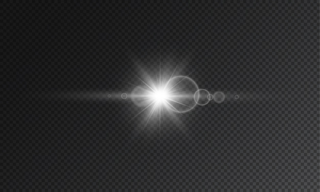 Transparent star flash Premium Vector