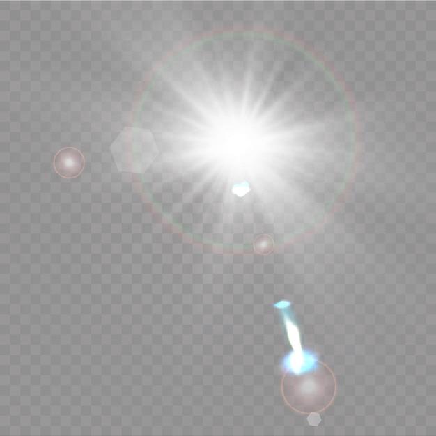 Transparent sunlight special lens flare light effect Premium Vector