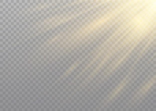 Transparent sunlight special lens flash light effect.front sun lens flash.   blur in the light of radiance. Premium Vector