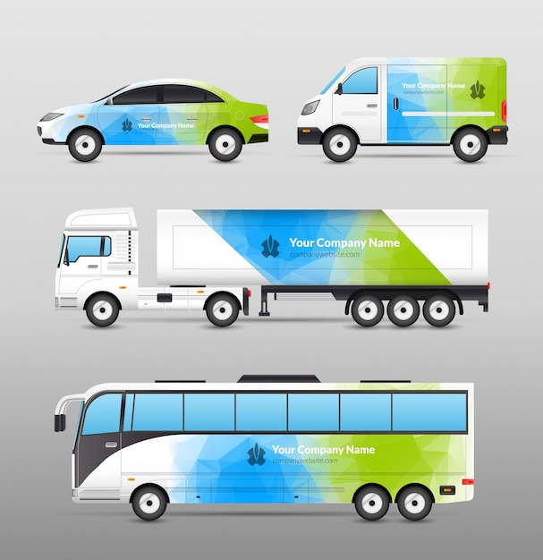 Transport advertisement design Free Vector