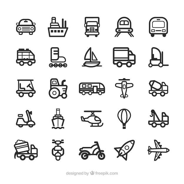 Transport icons Vector | Free Download