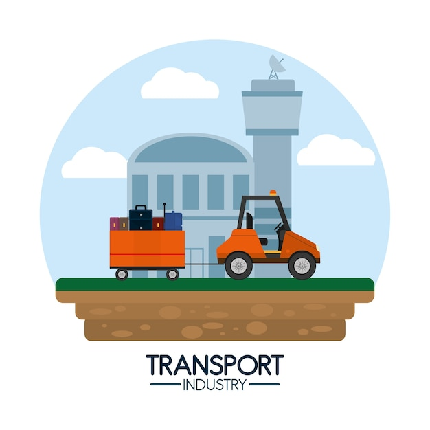 Transport industry air service Premium Vector