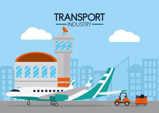 Transport industry air service Premium Vector
