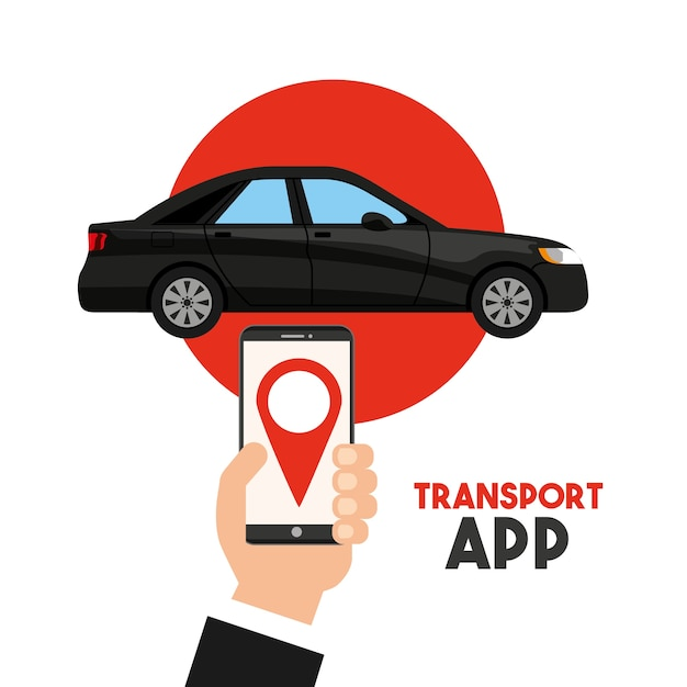 Transport service app technology icon Premium Vector