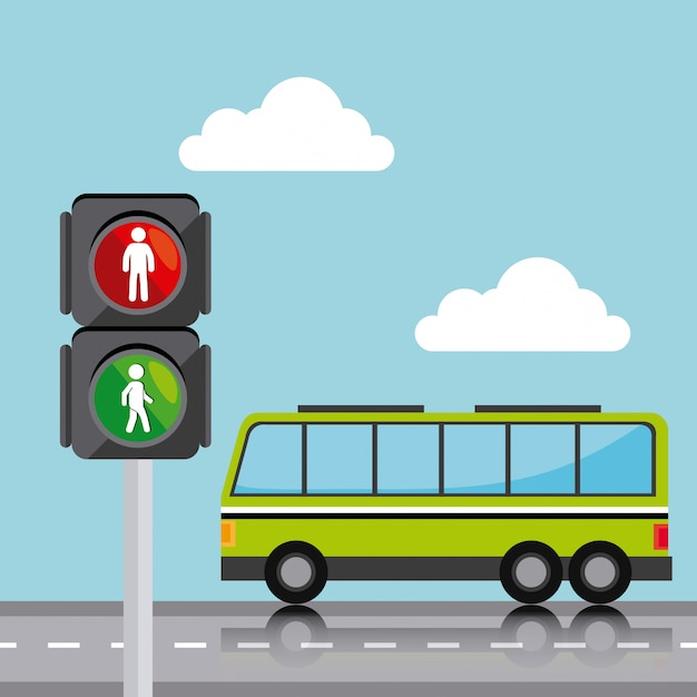 Transport, traffic and vehicles design Free Vector