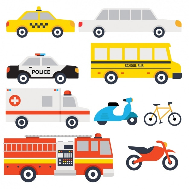 Transport vehicles design Free Vector