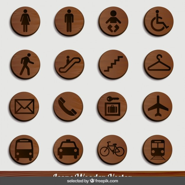 Transports wood signage Free Vector