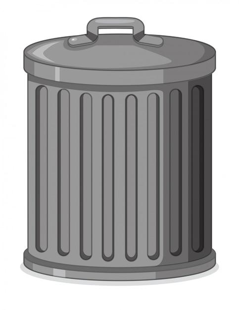 Trash can or bin Free Vector