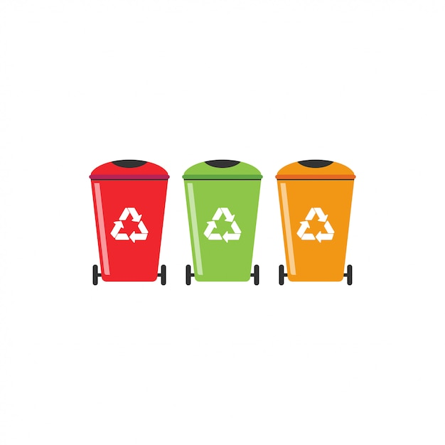 Trash can recycle graphic design template vector Premium Vector