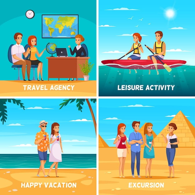 Travel agency concept illustration Free Vector