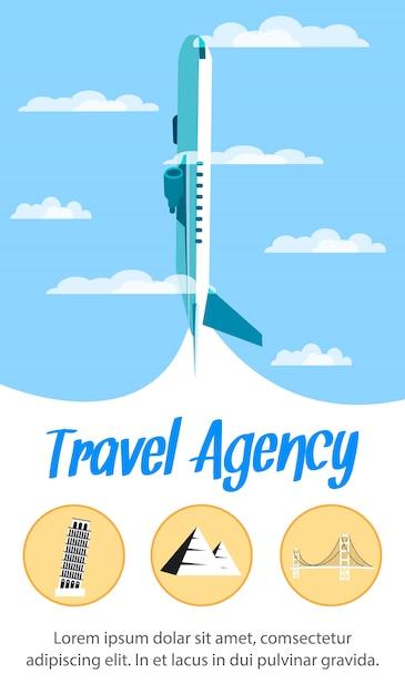 Travel agency Premium Vector