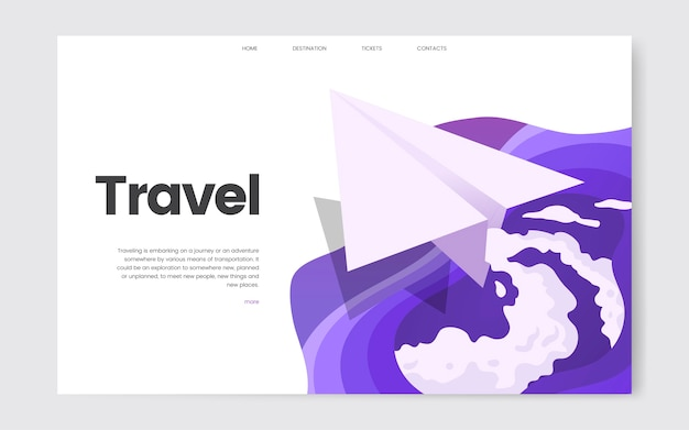 Travel and leisure informational website graphic Free Vector