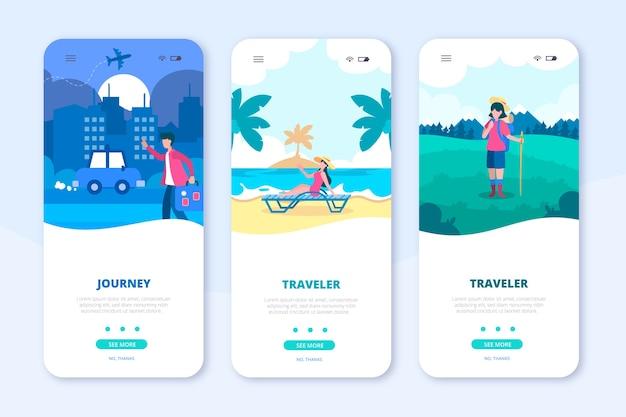 Travel app mobile phone Free Vector