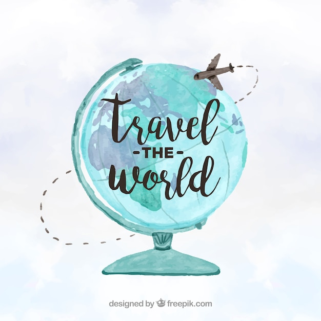 Travel around the world concept vector free download for All inclusive around the world trip