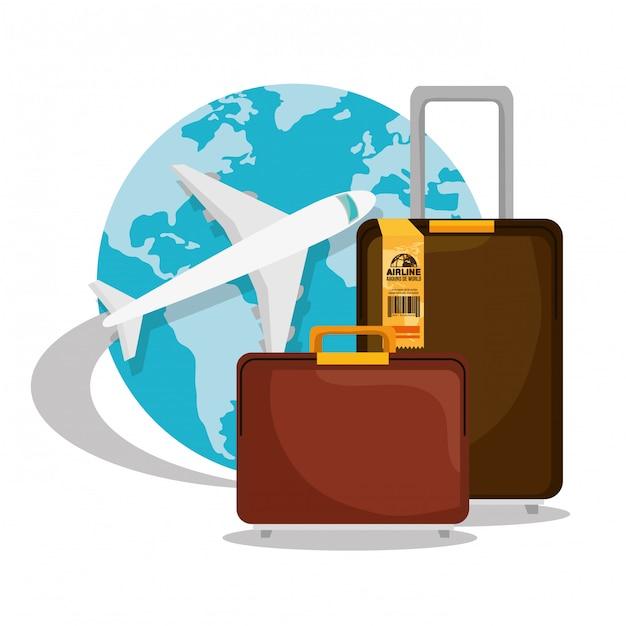 Travel around the world Free Vector