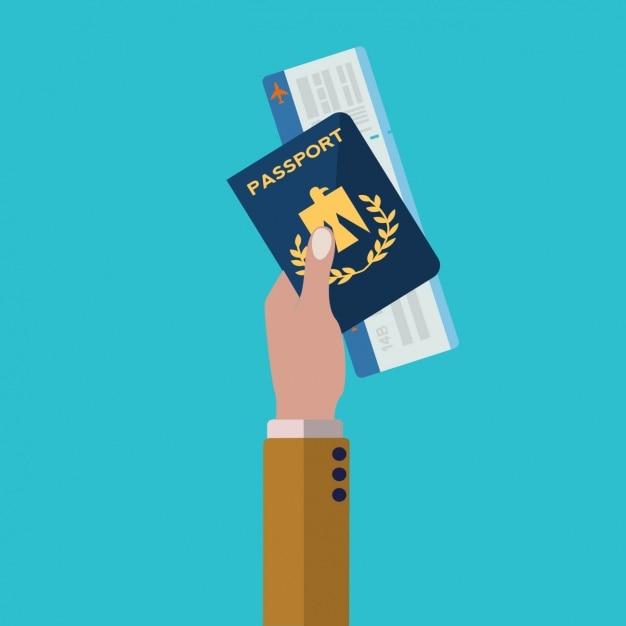 Travel background design Free Vector