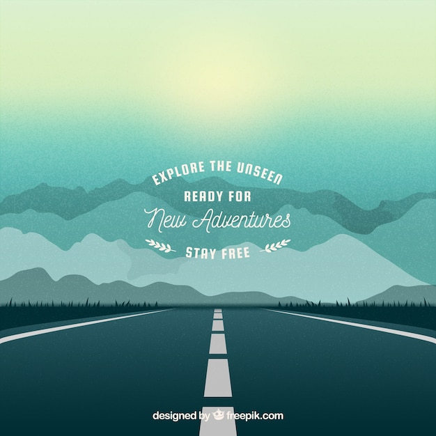 Travel background in realistic style Free Vector