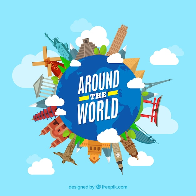 Around vectors photos and psd files free download for All inclusive around the world trip