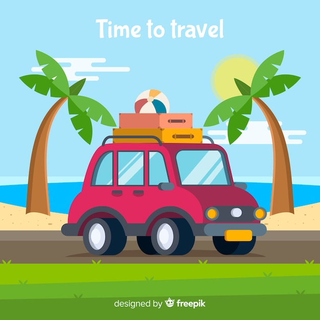 Travel background Free Vector