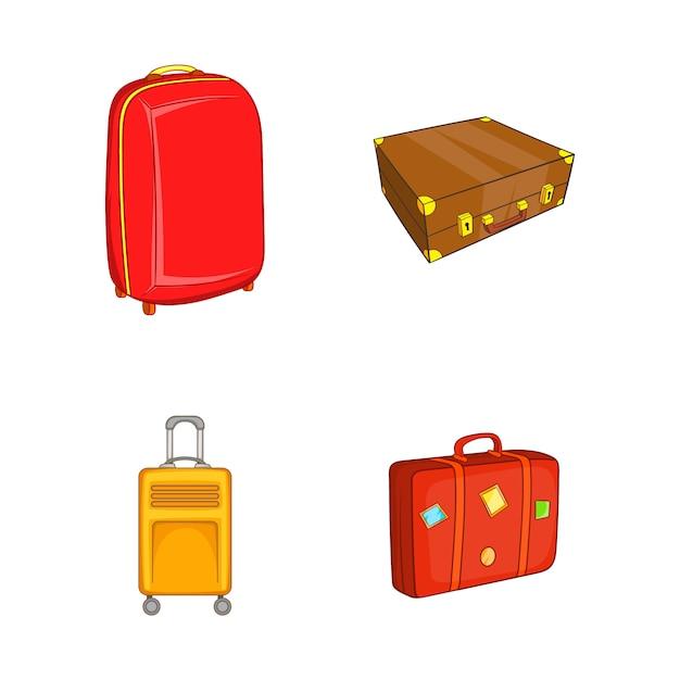 Travel bag element set. cartoon set of travel bag vector elements Premium Vector