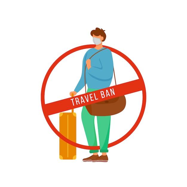 渡航禁止 Premiumベクター