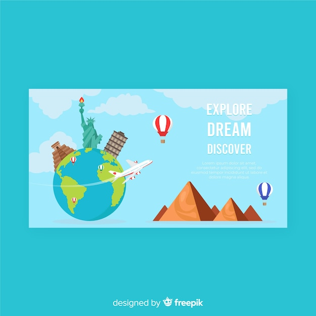 Travel banner Free Vector